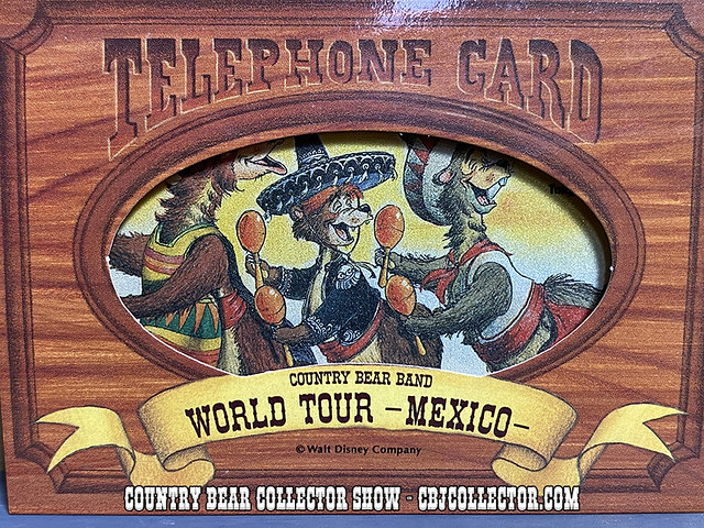 Vintage Tokyo Disneyland Country Bear World Tour Mexico Phone Card - CBCS #271