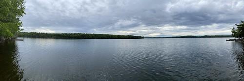 family vacation maine me princeton camping camp longlake biglake fishing panoramic panorama pano