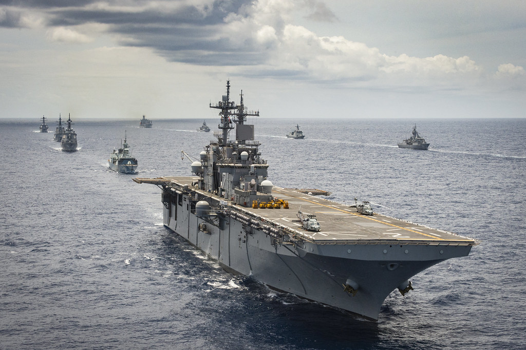Multinational Navy Ships • Exercise Rim of the Pacific • Pacific Ocean Aug. 21, 2020
