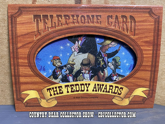 Vintage Tokyo Disneyland Teddy Awards Phone Card - CBCS #273