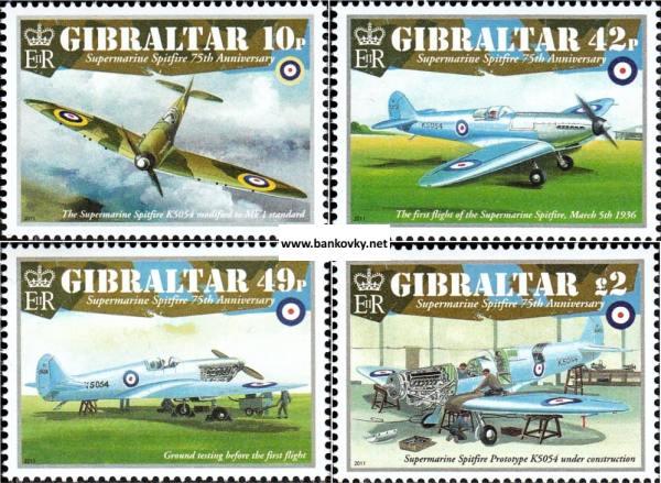 Známky Gibraltar 2011 Lietadlá Spitfire