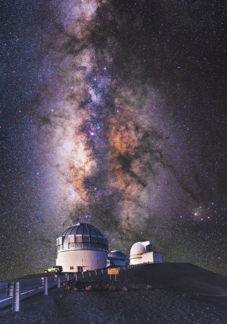 Composite of the Milky Way over Gemini