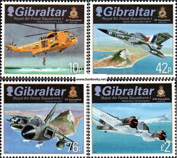 Známky Gibraltar 2012 Royal Air Force neraz. séria MNH