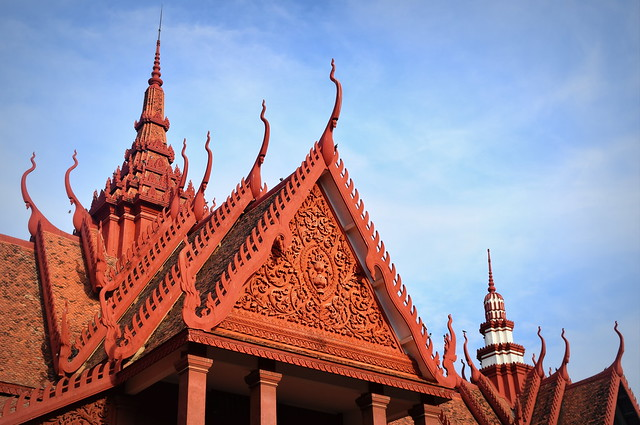 Red Khmer architecture - National Museum of Phnom Penh, Cambodia