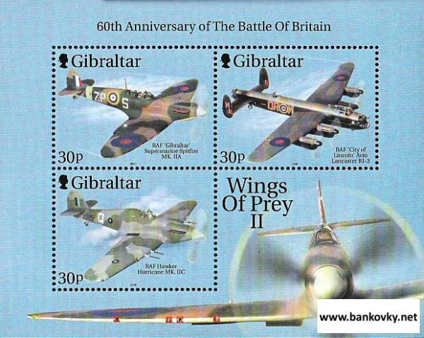 Známky Gibraltar 2000 Bitka o Britániu neraz. hárček MNH