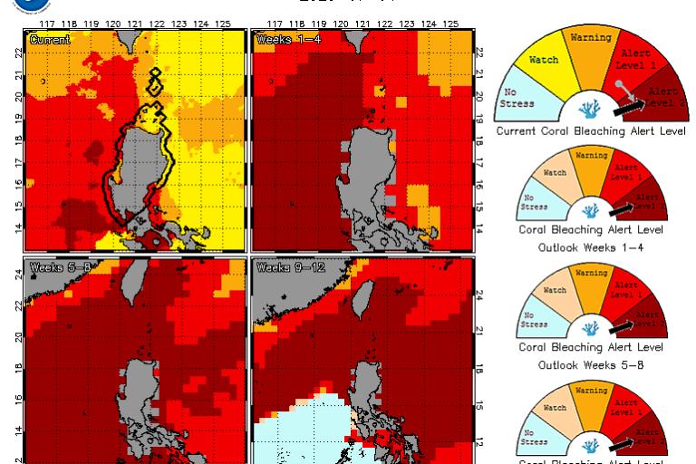 珊瑚白化二級警示