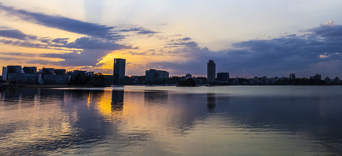 canon6d landscape panorama nature outdoors outside water reflections sky clouds sunset espoo finland