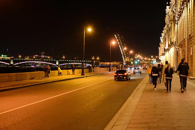 Санкт-Петербург. Ночь. Вид на Троицкий мост.