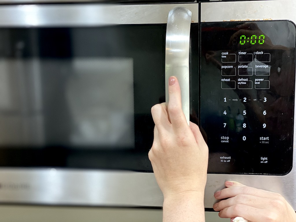 Pop the into the microwave.