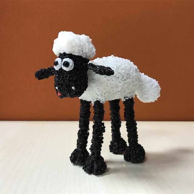 cartoon lamb produced by 3d printer pen