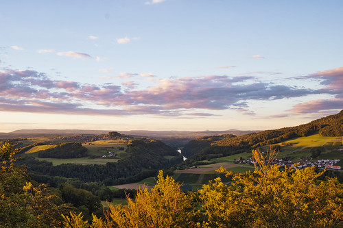 zürich zürcher unterland bülach landscape rhein view countryside switzerland sunset evening summer golden light cloudy clouds