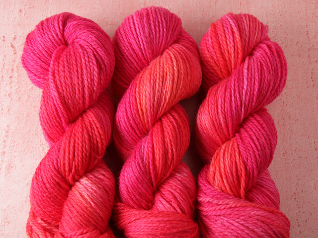 Awesome Aran – pure British superwash wool hand-dyed yarn 100g – 'Pink Sunshine'