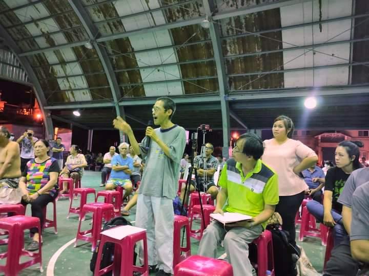 看守台灣協會謝和霖指出台泥做法落伍,不符合循環經濟。攝影:林琨堯