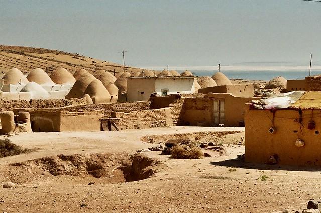 Traditional village on the western shore of Jabbul-Salt-Lake, Syria