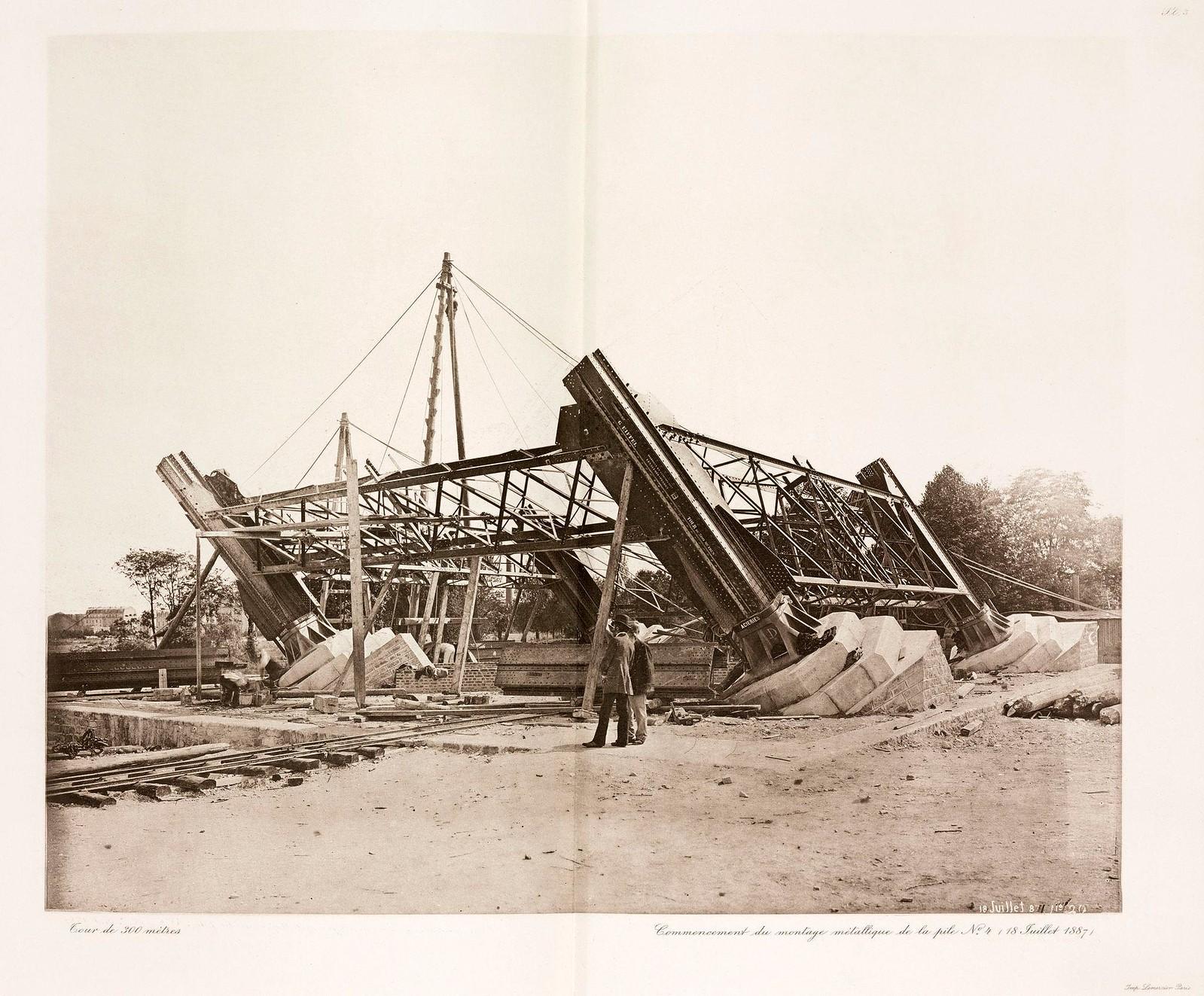 09. 1887. 18 июля. Одна из опор башни возвышается над уровнем земли