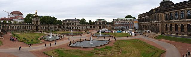 Dresden Zwinger, panorama.