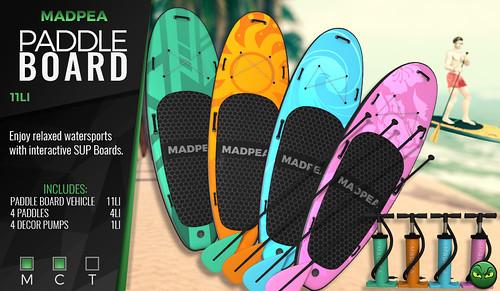 MadPea Paddle Board