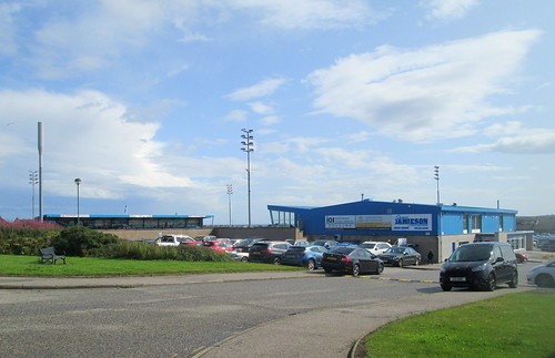 Balmoor Stadium, Peterhead From Access Road