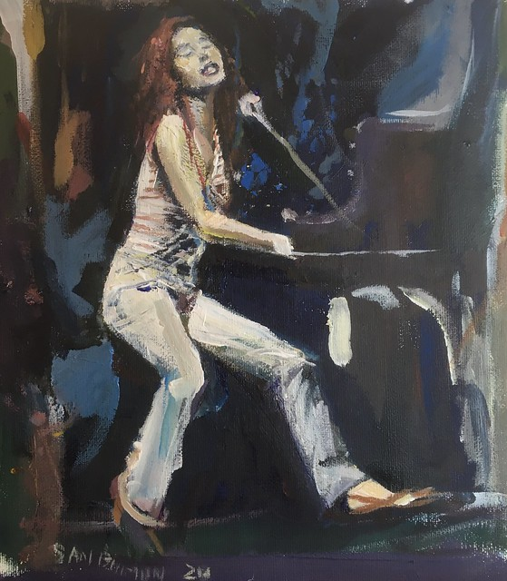 Another performer painting Tori Amos