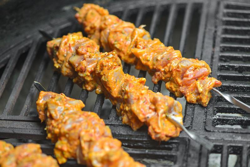 Harissa-marinated Chicken Skewers