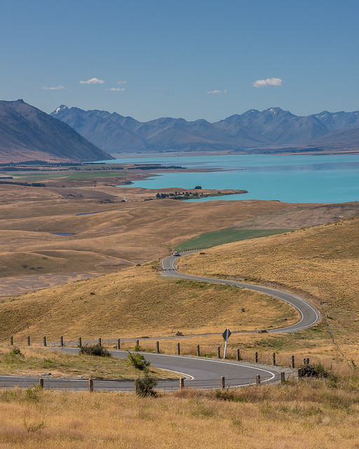 winding road to the lake