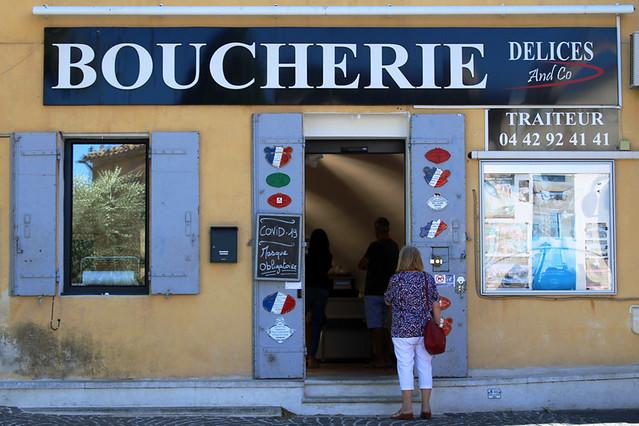 Butchers, Eguilles, Provence, France