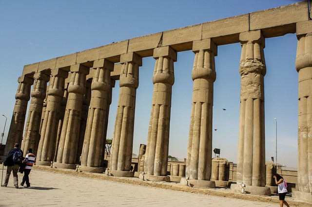 Amenhotep III's sun court at Luxor Temple