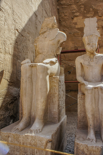 King Ramses and King Tut at Egypt's Luxor temple