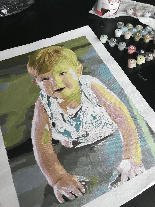 Portrait Paint by Number 5