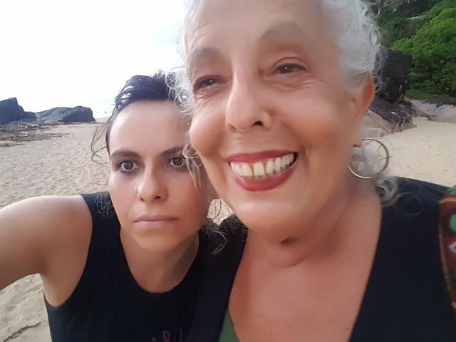 Georgeta com a diretora Elizabete_A Criatura Sou Eu Ontem