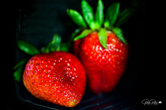 Portrait shot of a Strawberry