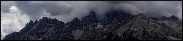 mystical atmosphere in the Dolomites