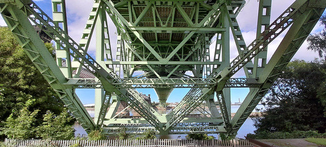 24th August 2020. The Silver Jubilee Road Bridge over the Manchester Ship Canal at Runcorn, Cheshire.
