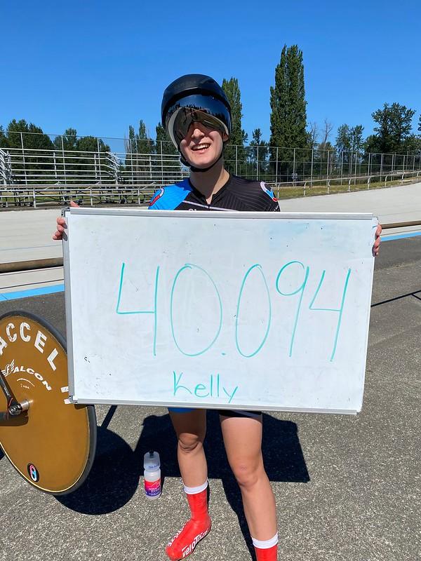 Jerry Baker Memorial Velodrome Hour Record Kelly Dahlin -40.094km