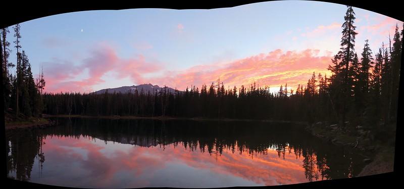 Diamond Peak from Karen Lake at sunset