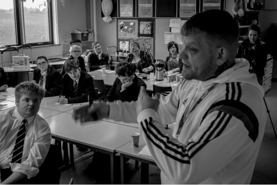 Three Minute Heroes at Withernsea High School with mentor Redeye Feenix