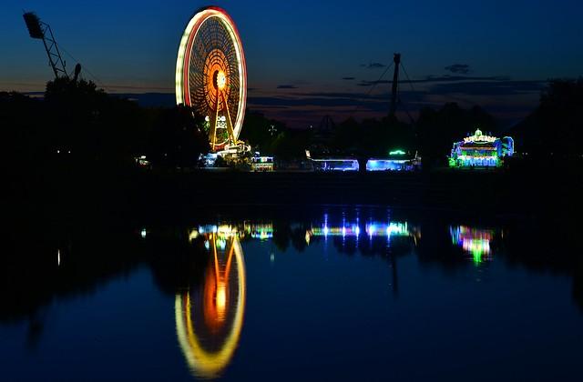 Munich - Ferris Wheel Reflection