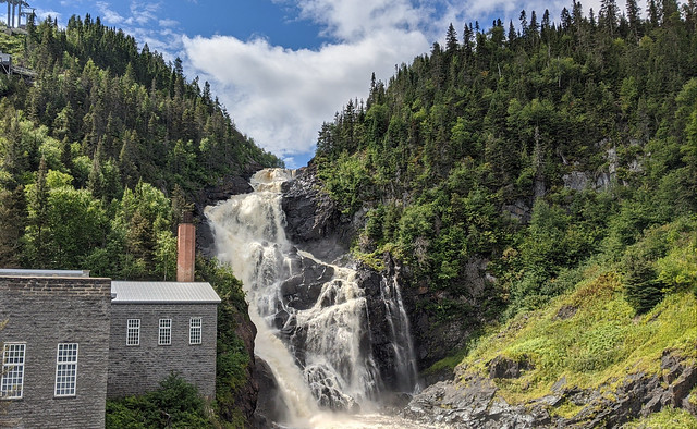 Ouiatchouan Waterfalls and mill