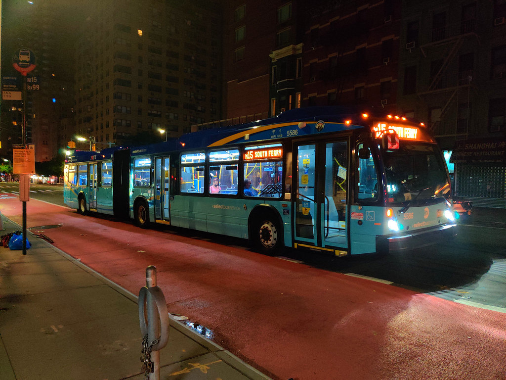 2018 Nova Bus LFSA 5586 on the M15 at 2nd Avenue & E 72nd Street