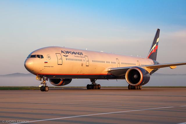 Aeroflot Boeing 777-300ER VP-BGD at Vladivostok International Airport