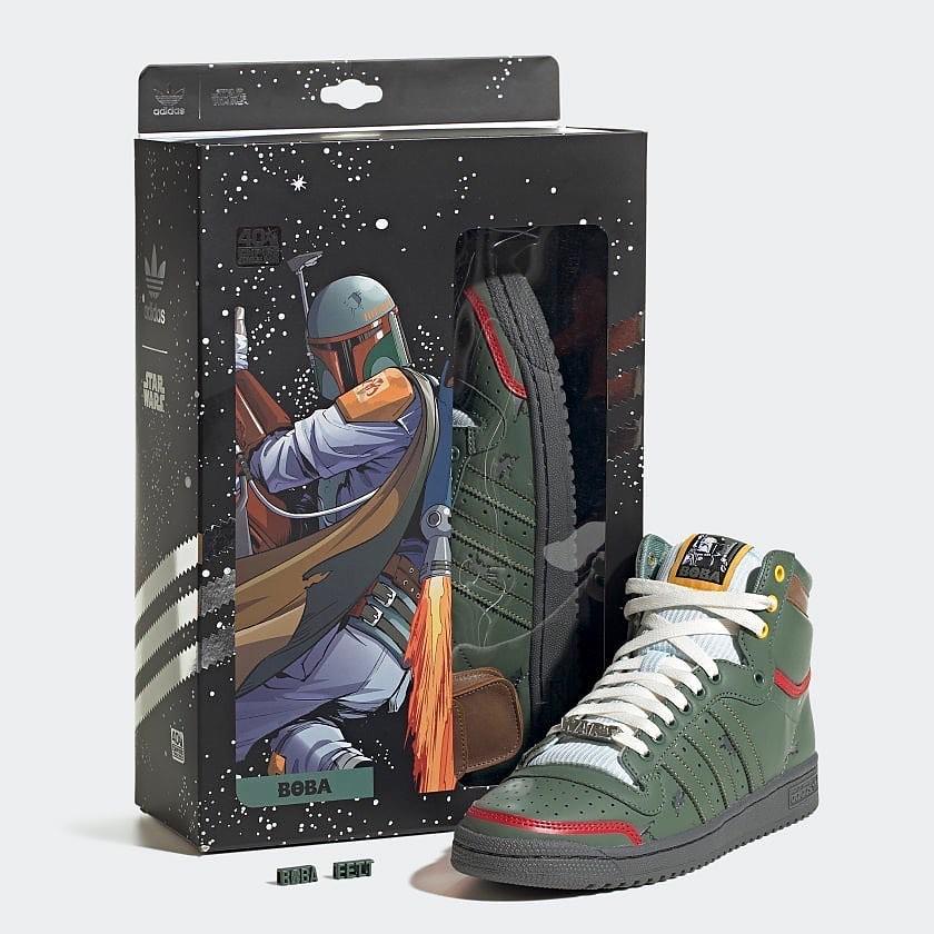 《星際大戰》× adidas「波巴·費特主題 Top Ten Hi 鞋款」