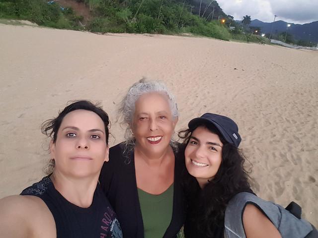 Diretora Elizabete Martins Campos, escritora Georgeta e montadora Leliane Castro_A Criatura Sou Eu Ontem