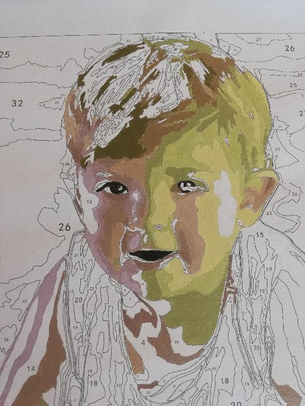 paint by number face