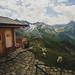 Cute alpine hut at the top of the Großglockner alpine road