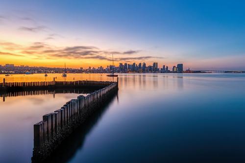 coasterra sandiego harborisland downtown sandiegobay sunrise sun ocean bay tranquil