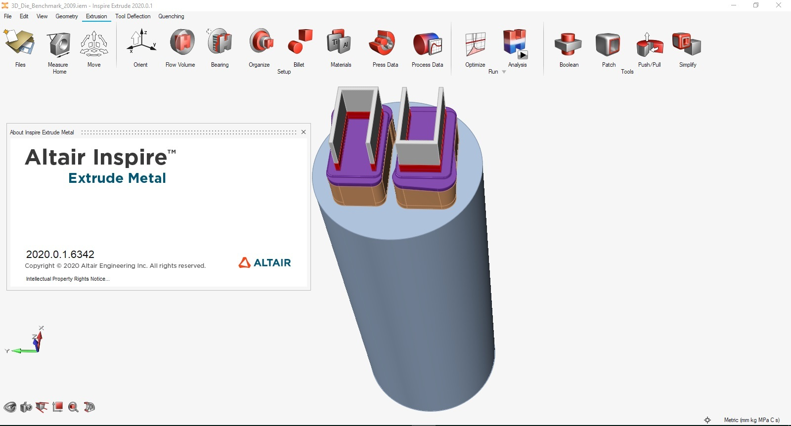 Working with Altair Inspire Extrude Metal 2020.0.1 Build 6342 full