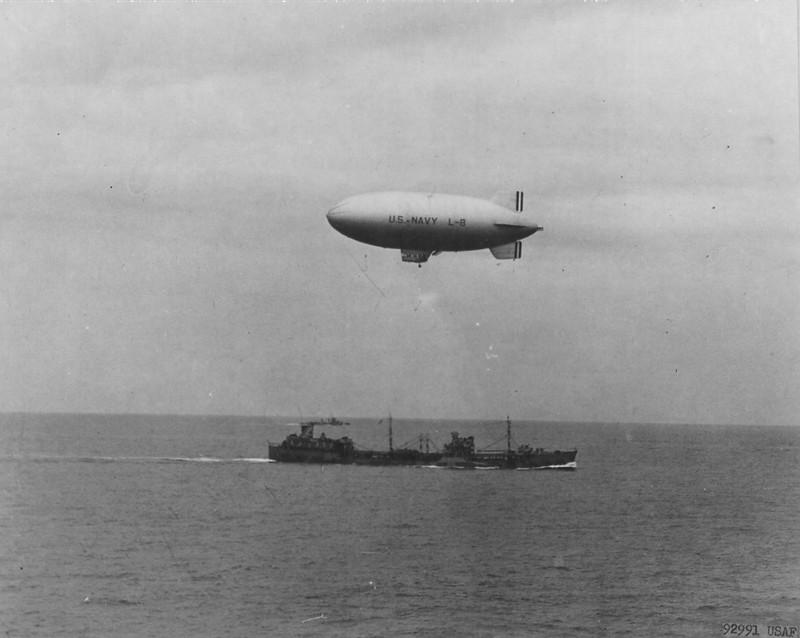 US Navy blimp L-8 delivery