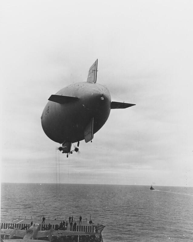 US Navy blimp L-8 delivers for the Doolittle Raid