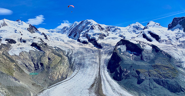 the picturesque Gorner Glacier