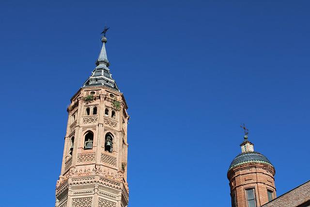Mudejar tower of Santa María la Mayor, Calatayud, Spain